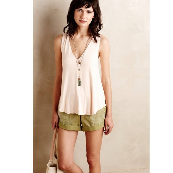 da65565201 Anthropologie Tops | Anthro Bordeaux Doublev Swing Tan Pink Tank Top ...